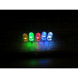 50x Leuchtdioden 5 Farbe (weiß rot grün blau...