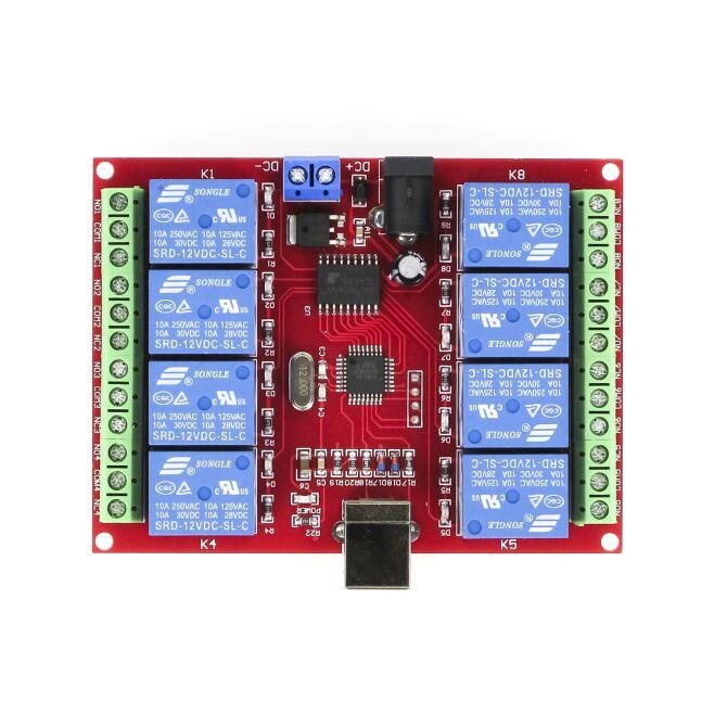 8 Kannal Usb Control Switch 8 Channel 12v Relay Module