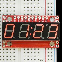 SparkFun 7-Segment Serial Display - Red, Serial TTL/SPI/IIC