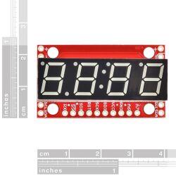 SparkFun 7-Segment Serial Display - White - with...