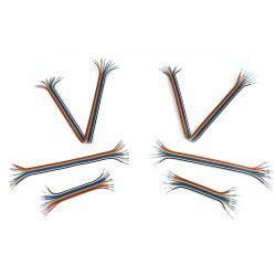 V- TEC  Jumper Wires Pre-crimped Terminals Rainbow...