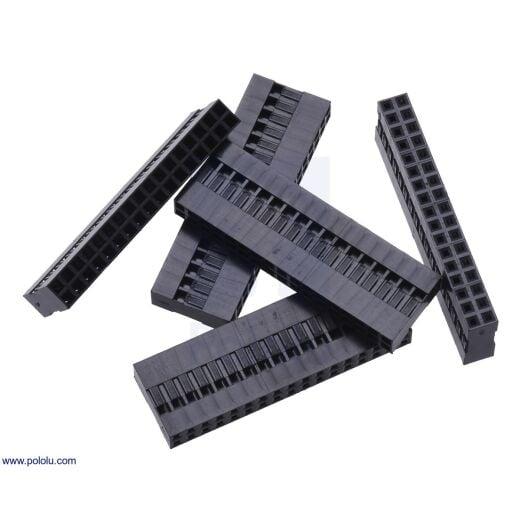 2,54mm Dupont Jumper Crimp Connector Housing Stecker 2x17Pin 5  Pack