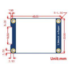 Waveshare 1,54 inch 200x200 E-Ink E-Paper Display Modul SPI für Raspberry Pi Arduino