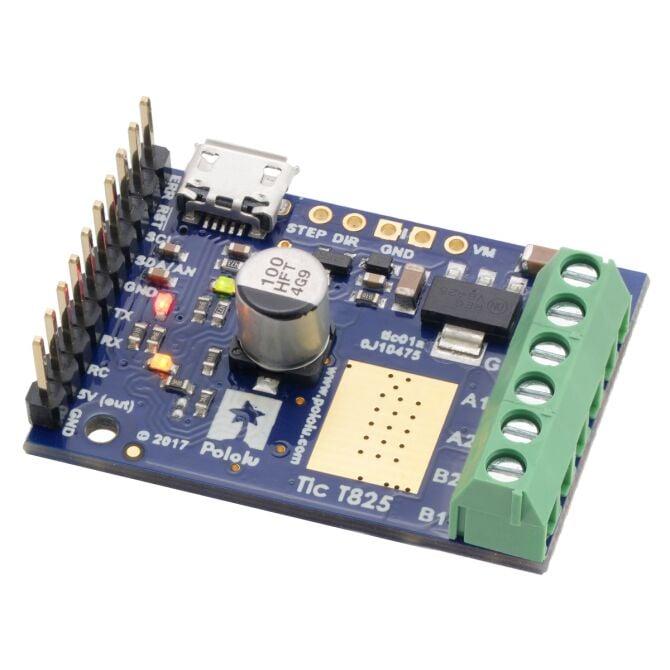 Pololu tic t825 usb multi interface stepper motor for Usb stepper motor controller