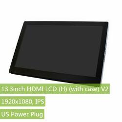Waveshare 13.3inch 1920x1080 HDMI LCD IPS Display Capacitive Raspberry Pi Computer monitor V2