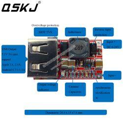 DC-DC 6V-24V  to 5v 3A Step-down Voltage Regulator Power Module Phone Charger