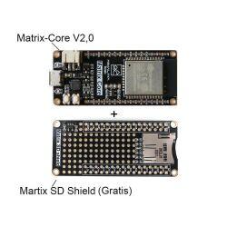 HIMALAYA Matrix-Core V2 Wireless Dev Board ESP-WROOM-32 mit SD Shield Partial Kit