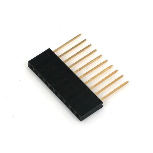 Single Double Row Pin Female Header Buchsenleiste Strip 1x10 Pin Gerade lang 5 Stücke