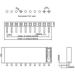 Single Double Row Pin Female Header Buchsenleiste Strip...