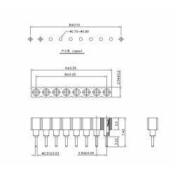 Single Double Row Pin Female Header Buchsenleiste Strip 1x40 Pin Rund 5 Stücke