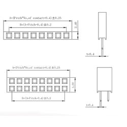 Single Double Row Pin Female Header Buchsenleiste Strip 2x20 Pin Gerade 5 Stücke