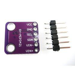 GY-MCP3421 18-Bit ADC Single Channel Analog-to-Digital...