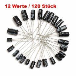120x ELKO Kondensatoren 0.22uF-470uF ,12 Verschiedene jeder 10 Stück