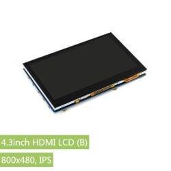 WaveShare 4.3inch HDMI LCD (B), 800x480 IPS Capacitive...