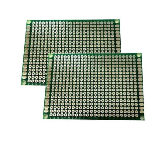 Lochrasterplatine 50x70mm Experimentierplatine Lötplatine Prototype Leiterplatte PCB (2 Stücke)