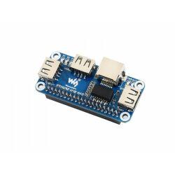 WaveShare Ethernet / USB HUB HAT for Raspberry Pi, 1x RJ45, 3x USB