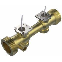 Audiowell Ultrasonic Flow Sensor for Water Meter or Heat Meter DN20, Brass Pipe for Heat Meter HS0002