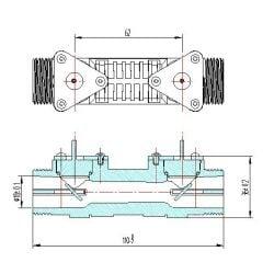 Audiowell Ultrasonic Flow Sensor with Plastic Pipe for...