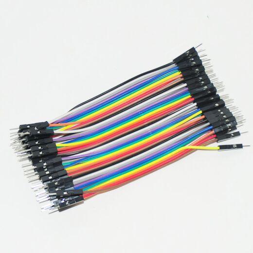 QITA 40p 10cm Jumper Wire Kabel Male to Male Steckbrücken Steckbrett