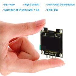 "Keyestudio 1.3"" 128x64 OLED Graphic Display Module V2.0 for Arduino UNO R3 IIC SPI"