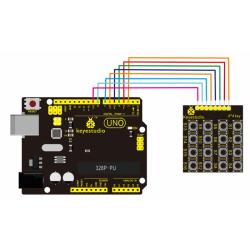 Keyestudio 4x4 Matrix Keypad for Arduino Large Button Single-Chip Extended Membrane Keyboard