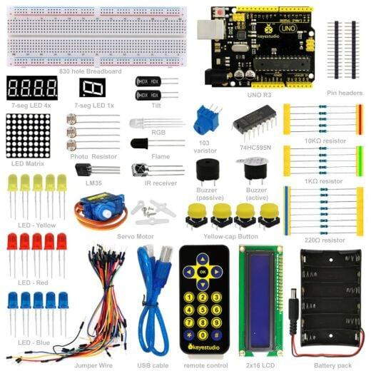Keyestudio Basic Starter Learning Kit for Arduino Projects (w/ Uno R3 )