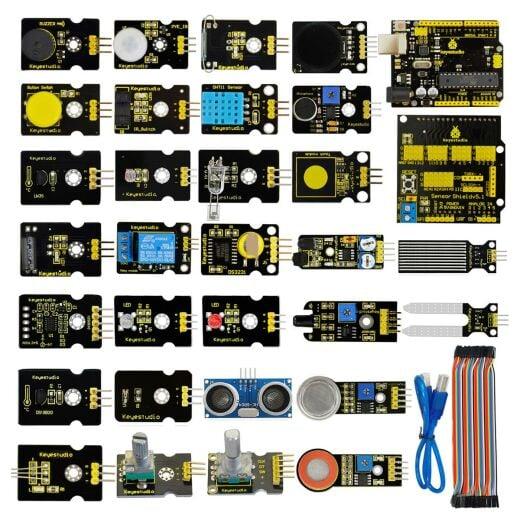 Keyestudio New 30 in 1 Sensor Kit for Arduino Starter (w/ UNO R3)