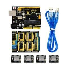 Keyestudio CNC Kit for Arduino Uno R3 (CNC Shield V3 +...