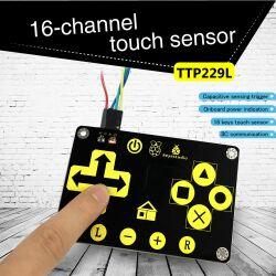 Keyestudio TTP229L 16 Key Capacitive Touch Keypad for Arduino Uno R3