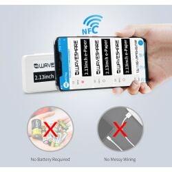 WaveShare 2.13inch Passive NFC-Powered e-Paper, No Battery