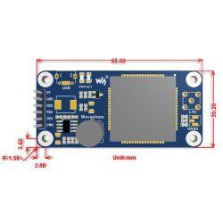 WaveShare NB-IoT / eMTC / EDGE / GPRS / GNSS HAT for Raspberry Pi, for Europe