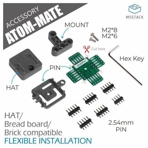 M5Stack ATOM Mate DIY Expansion Kit Compatible with Atom Matrix Atom Lite
