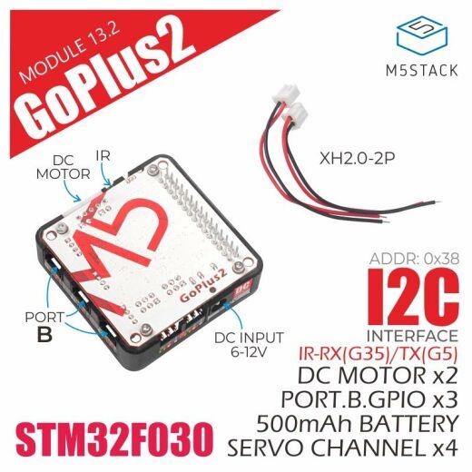 M5Stack Goplus2 DC Motor and Servo Driver Module (STM32F0) 500mAh Battery