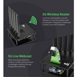 WaveShare SIM8200EA-M2 5G HAT for Raspberry Pi, 5G/4G/3G Support, Snapdragon X55, Multi Mode Multi Band