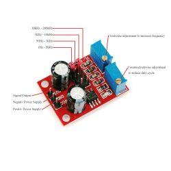 NE555 Einstellbare Frequenz Pulse Generator Modul Rechteckwelle Schrittmotortreiber bis 200kHz