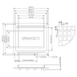 WaveShare LCD12864-ST (3.3V Blue Backlight)