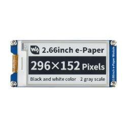 WaveShare 296×152, 2.66inch E-Paper E-Ink Display Module, Black / White