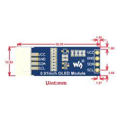 WaveShare 0.91inch OLED Display Module 128x32 for Arduino/Raspberry Pi