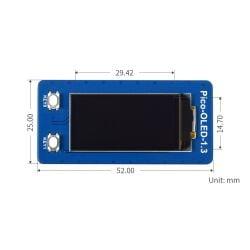 WaveShare 1.3inch OLED Display Module for Raspberry Pi Pico, 64×128, SPI/I2C