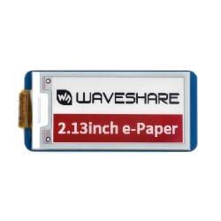 WaveShare 2.13inch E-Paper E-Ink Display Module (B) for Raspberry Pi Pico, 212×104, Red / Black / White, SPI