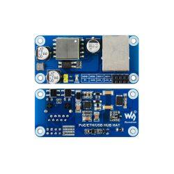 WaveShare PoE Ethernet / USB HUB HAT for Raspberry Pi Zero, 1x RJ45, 3x USB