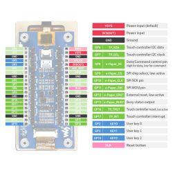 WaveShare 2.9inch Touch e-Paper Module for Raspberry Pi Pico, 296×128, Black / White, SPI