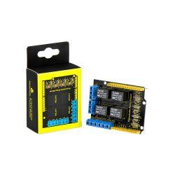 Keyestudio Relay Shield 4 Channel 5V Module for Arduino...