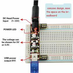 Keyestudio Power Supply Module for MB102 Breadboard 3.3V 5V