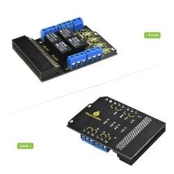 Keyestudio Relay Breakout Board for BBC Micro:Bit 4-Way 5V Relay Module
