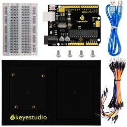 Keyestudio DIY Kit for Arduino, R3 Board + 400 Holes Breadboard + Chassis + Jumper Wires