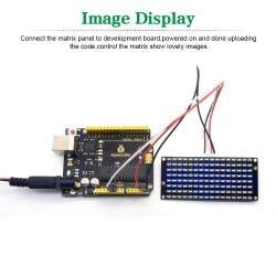 Keyestudio 8x16 LED Dot Matrix Board for Arduino with PH2.54 Connector