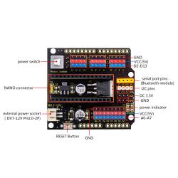 Keyestudio NANO Shield Board for Arduino Nano with Power...