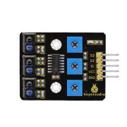 Keyestudio 3 Channel Infrared Tracking Sensor Module for...