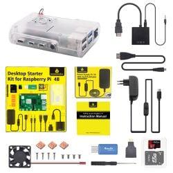 Keyestduio Raspberry Pi 4B Kit EU Plug Power Supply...